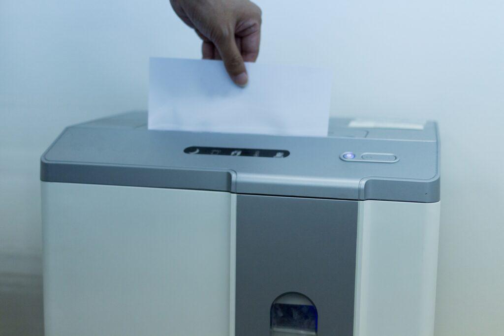 機密書類処分