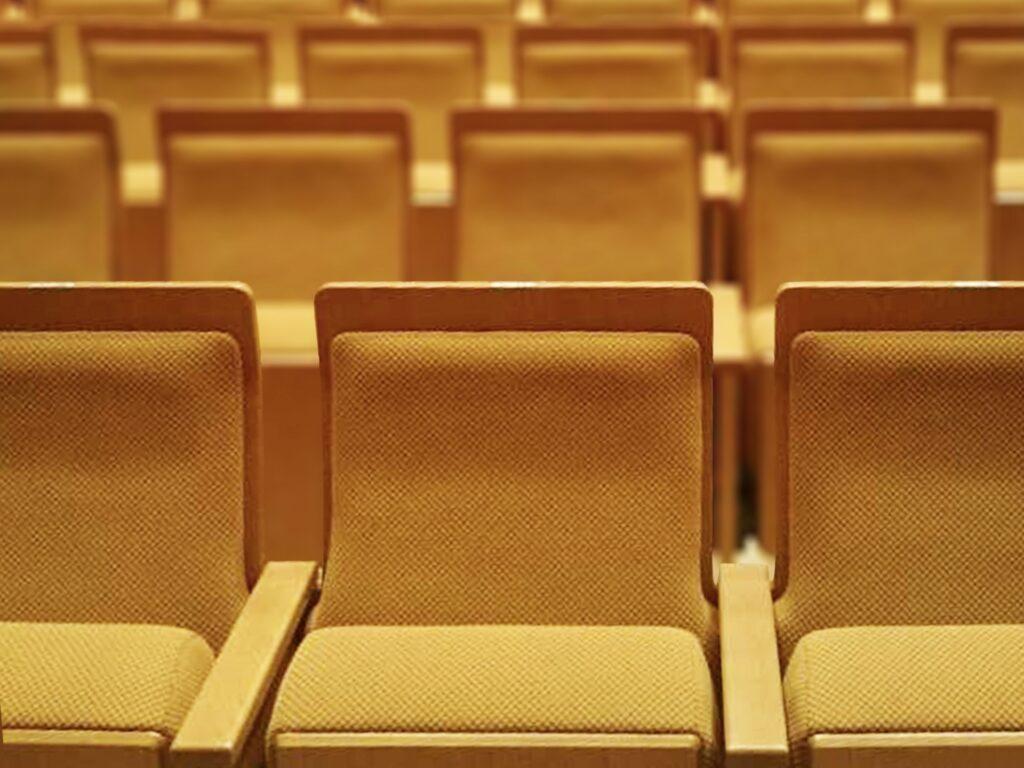 劇場用椅子の処理